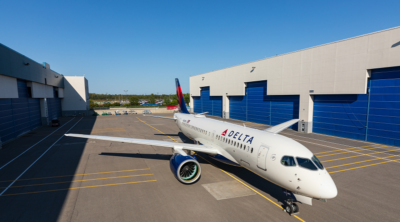 Delta Airbus A220-100 Industria Spazio-news.it Magazine