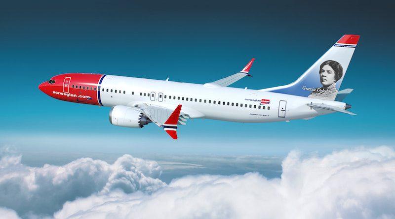 Norwegian_737MAX_Plane_Grazia Deledda