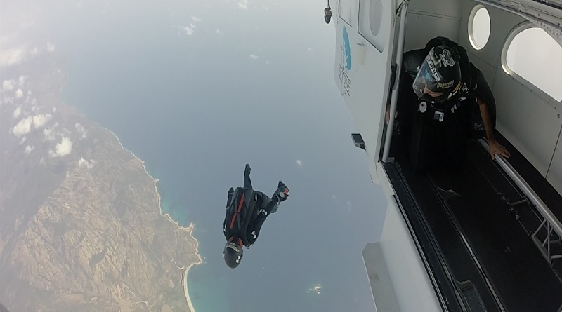 Speed Skydiving Mascia Ferri Spazio-News.it