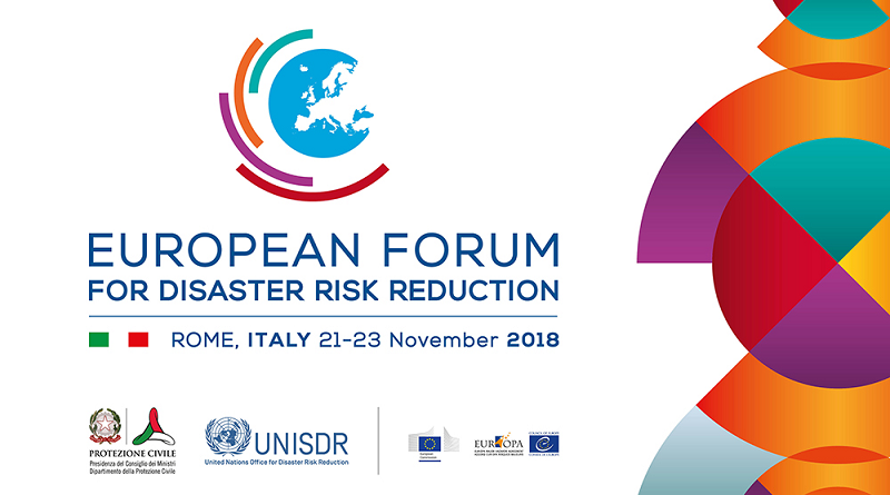 Forum Europeo 2018 EFDRR - European Forum on Disaster Risk Reduction