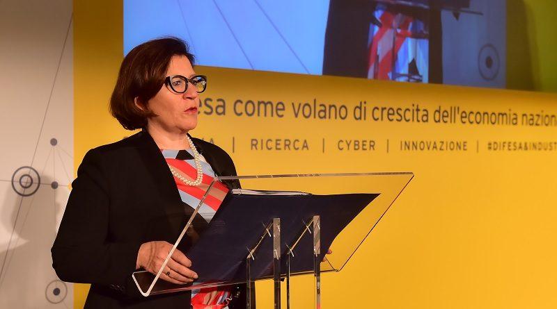 Ministro della Difesa, Elisabetta Trenta workshop Difesa come volano di crescita dell'economia nazionale
