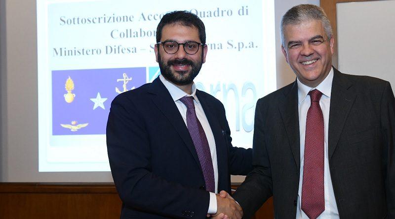 Accordo Difesa - Terna per la sicurezza energetica Tofalo e Luigi Ferraris Amministratore delegato di Terna