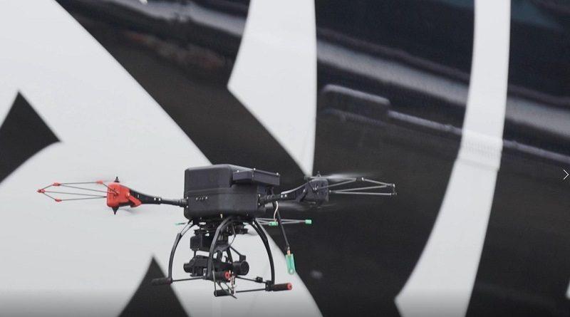 Drone UAV inspect aircraft