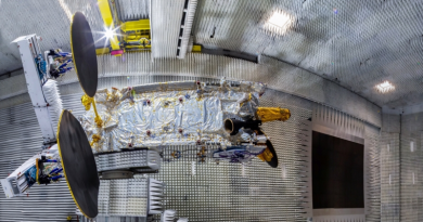 Thales Satellite Yamal-601 test site assembly