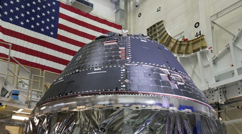 Lockheed Martin-built Orion capsule for the Artemis 1 mission to the Moon is declared finished.
