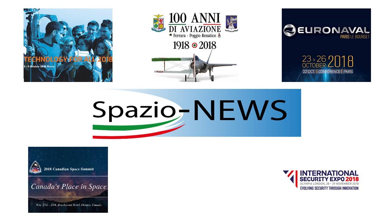 Eventi Spazio-News Magazine 2018