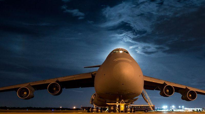 Lockheed Martin C-5M Super Galaxy aircraft US Army at Airport