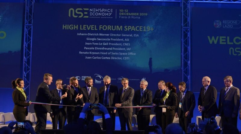 Inaugurazione New Space Economy European ExpoForum 2019 - fiera di Roma