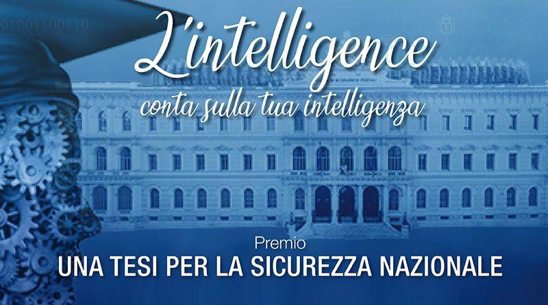 """Intelligence Premio """"Una tesi per la Sicurezza Nazionale"""""""
