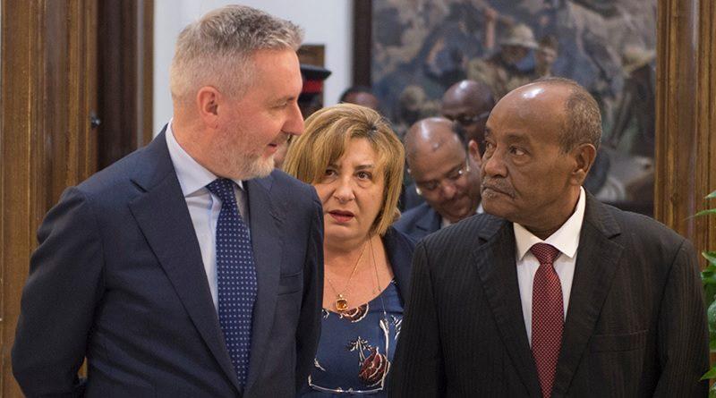 Ministro della Difesa Lorenzo Guerini - Ministro della Difesa Gibuti Hassan Omar Mohamed Bourhan