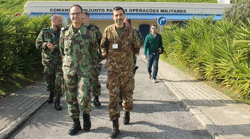 Comandante del Multinational CIMIC Group - Colonnello Luca Vitali CIMIC Unit portoghese