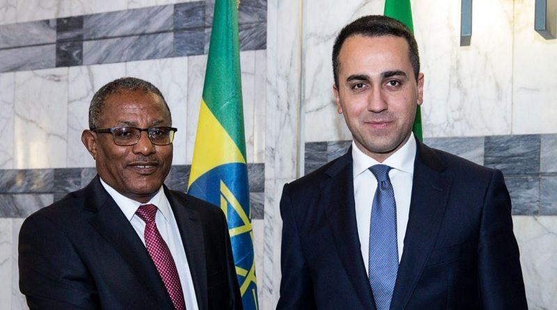 Italia - Etiopia - Ministro degli Affari Esteri Etiopia, Gedu Andargachew - Ministro degli Affari Esteri e della Cooperazione Internazionale, Luigi Di Maio