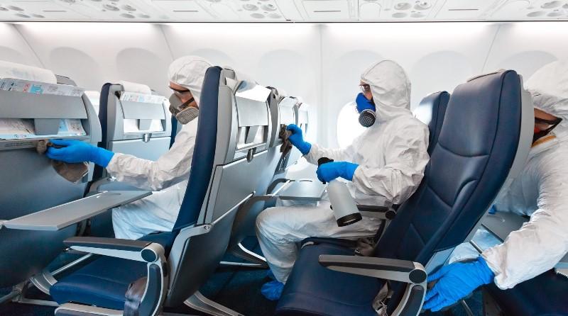 covid-19 - Pulizie Aereo - trasporto aereo Pandemia - Spazio-News Magazine