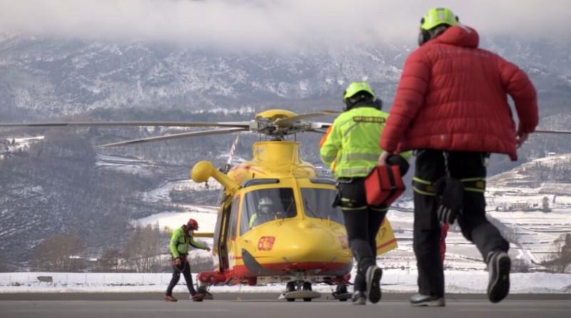 Corpo Nazionale Soccorso Alpino e Speleologico - CNSAS - elicottero Leonardo SpA Spazio-News Magazine
